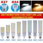 G24 E27 5W 9W 10W 12W 2835 5050 5730 SMD LED Spot Light Bulb Corn Lamp AC85-265V