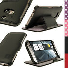 PU Leather Skin Case Cover Holder for HTC One M8 2014 + Sleep/Wake & Screen Prot