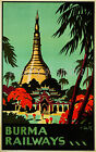vintage Burma Railways ad print poster, 4 sizes available-Train 26