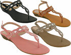 WOMENS BUCKLE GLADIATOR FLAT SUMMER SANDAL LADIES CAUSAL TOE BEACH SHOES UK SIZE