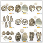 Natural Carved Silver Gray Pyrite Jewelry Pendant Charm Gemstone Beads 1 Piece