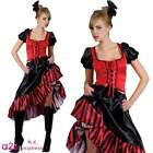 LADIES SEXY CAN CAN SALOON GIRL WILD WEST BURLESQUE COWGIRL FANCY DRESS COSTUME