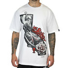 SULLEN CLOTHING CALI TIME WILL COME DEATH REAPER WHITE SKULL TATTOO T SHIRT