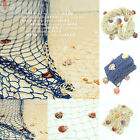 Outdoor Decor Nautical Seaside Wall Beach Party Decorative Fishing Net W/Shells