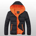 New Men's Cotton Padded Overcoat Hit Color Jacket Fashion Warm Outwear MWM240