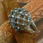STERLING SILVER MESH RING SOLID.925 /NEW JEWELERY  SIZE J - U