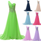 2014 NEW Beaded Evening Wedding Bridesmaid Dress Party Formal Prom Long Dresses