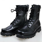 Moda Essentials Men's Combat Boots Work Round Lace-Up Boots Military Black X198