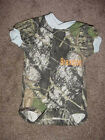Personalized Mossy Oak Blue Trim Baby Camo Camouflage Infant Newborn Creeper Boy