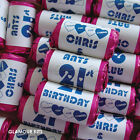 PERSONALISED MINI LOVE HEARTS SWEETS HAPPY BIRTHDAY PARTY BAG FAVOURS 20-100