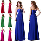 Stock Strapless Wedding Bridesmaid Ball Party Evening Prom Dress Long Maxi Gowns