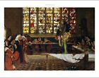"""FRANK COWPER """"Devil among the Nuns"""" SHOCKED outrage stained glass CANVAS PRINT"""