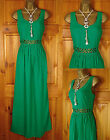 NEW LADIES TOPSHOP EMERALD GREEN MAXI STYLE STRAPPY SUMMER SUN DRESS UK 6 - 16