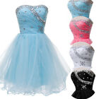 Strapless Formal Evening Bridesmaid Short Mini Prom Ball Gown Dress Stock 6-20