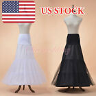 2 Hoop Black Mermaid Bridal Petticoat Wedding Prom Dress Crinoline Underskirt