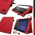 PU Leather Stand Folio Case for Sony Xperia Z2 SGP511 Tablet Smart Cover Holder