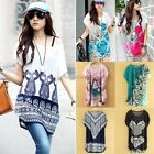LADIES BATWING SLEEVE PRINTING TOP WOMEN BASIC T-SHIRT TOPS 7 TYPES HOT SALE NEW