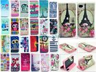 Retro For HTC Desire 500 One 2 M8 Owl Tower Flower Flip Leather Skin Wallet Case