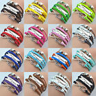 Vintage Fashion Charm Bracelet Multilayer Infinity Love Cuff Bangle Multi-Color