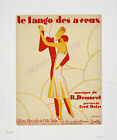 Tango Vintage French print poster, large 4 sizes available