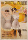 Vintage French corset print poster, large 4 sizes available