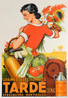 Vintage French Tarde advertisement print poster, large 4 sizes available