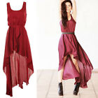 NEW Fashion Europe Lady Irregular Skirt Chiffon Dress Vest Dress Veil 3 Colors