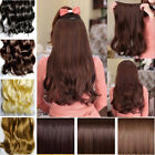 long straight curly one piece 3/4 full head clip in Synthetic hair extensions