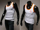 New Mens Muscle Slim Fit Vest Sleeveless Gym Summer Casual Tank Top Size S M L