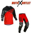 Fly F-16 Jersey & Pant Combo Dirt Bike Gear MX ATV Racing 2017 Riding Gear Red