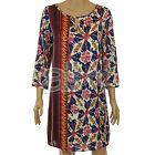 Ladies ex Wallis Retro Satin Tunic Dress Smart Casual 70s Purple Long New Womens
