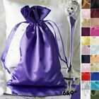 "60 pcs 6x9"" Large SATIN FAVOR BAGS - Wedding Party Drawstring Gift Pouches SALE"