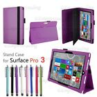 Premium PU Leather Folding Folio Stand Case For Microsoft Surface Tablet +Stylus