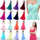 New Long Chiffon One Shoulder Bridesmaid Dresses Evening Party Formal Prom Gown