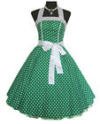 Vintage Dancing Party Polka Dot Spot Swing Rockabilly Jive Dress 50's 60's Skirt