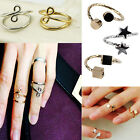New Fashion Set Gold/Silver Infinity Above Knuckle Ring Band Midi Rings Gift UK