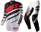 NEW 2015 SHIFT RACING ASSAULT RACE MX DIRTBIKE GEAR COMBO BLACK/ WHITE ALL SIZES