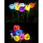 Outdoor Yard Garden Path Way Solar Power LED Tulip Landscape Flower Lights