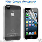 ULTRA THIN CLEAR HARD BACK CLIP ON CASE COVER SKIN FOR APPLE IPHONE 4,4S,5,5S