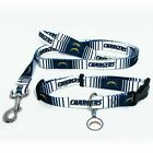 NEW SAN DIEGO CHARGERS PET SET ADJUSTABLE DOG COLLAR LEASH & ID TAG ALL SIZES $20.95 USD on eBay