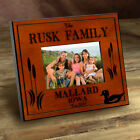 """Cabin Series Engraved Animal Wood Toned Picture Frame 4x6"""""""