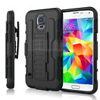 Hybrid Rugged Shockproof Protective Impact Armor Hard Holster Stand Case Cover