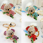 Cute Jack Diamond Koala Car key Ring Charm Pendent Purse Bag Key Chain 4Colors
