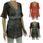 New Ladies Womens John Rocha @ Debenhams Black or Red Kaftan Beach Tunic Top