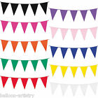 10m Giant Colourful Plastic Pennant Banner Party Supplies Bunting Decoration