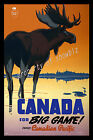 Vintage Canada Travel Advertisement print poster, 4 large sizes available
