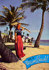 Vintage Miami Beach Travel Advertisement print poster, 4 large sizes available