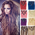 """70g 80g 120g Full Head 15""""18"""" 20"""" 22""""24"""" Clip In Real Remy Human Hair Extensions"""