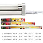 Sun Blaster T5 High Output HO Fluorescent Strip Light Fixture Lamp 2Ft 3Ft 4Ft