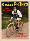 Vintage Dunlop Bicycles Advertisement print poster, 4 large sizes available